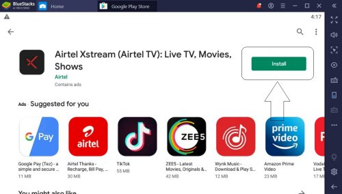 Airtel Xstream App for PC